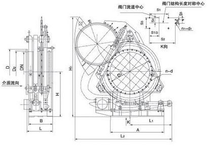 电动扇形眼镜阀结构图